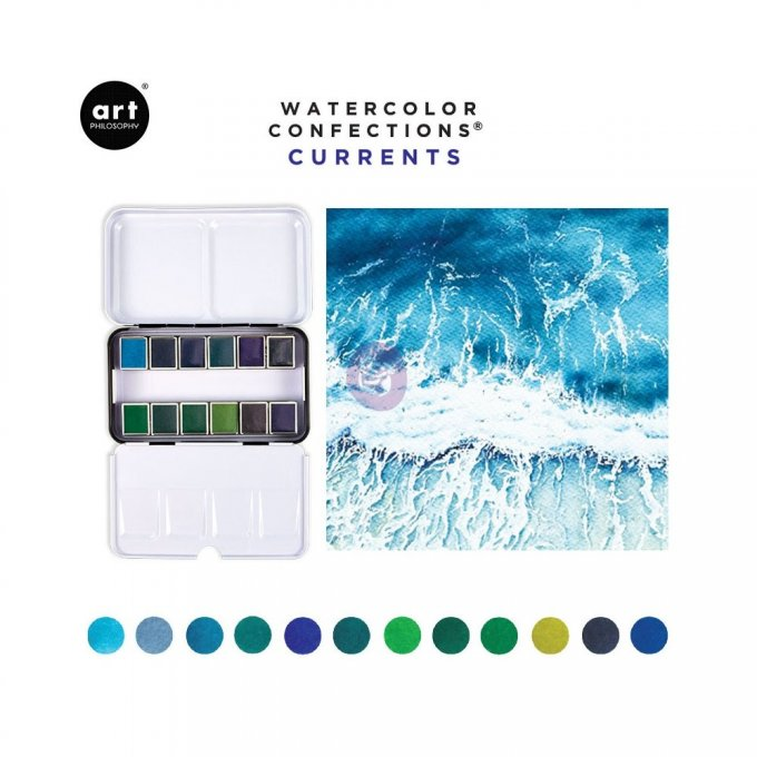 Palette Aquarelle Watercolor Confections Currents - Prima Art Philosophy
