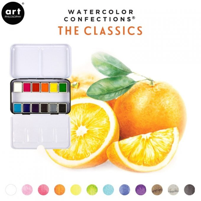 Palette Aquarelle Watercolor Confections The Classics - Prima Art Philosophy
