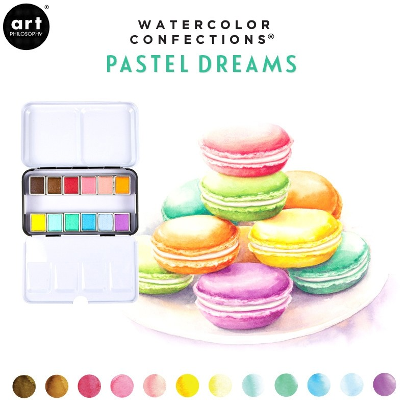 Palette Aquarelle Watercolor Confections Pastel Dreams - Prima Art Philosophy