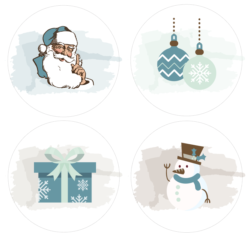 Badges Collection Hivernale - Lot n°2