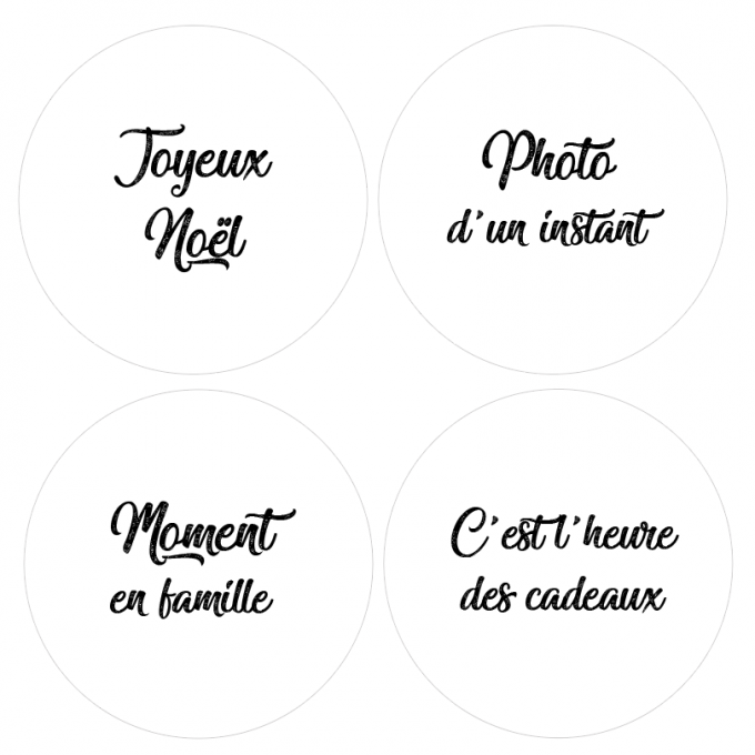 Badges Collection Hivernale - Lot n°1