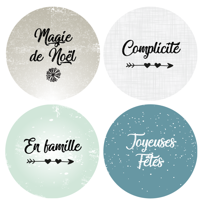 Badges Collection Hivernale - Lot n°3