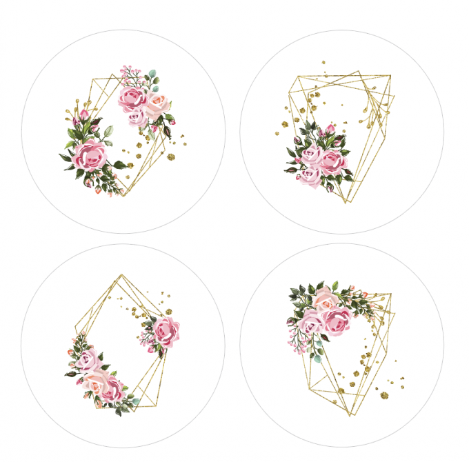 Badges Art floral