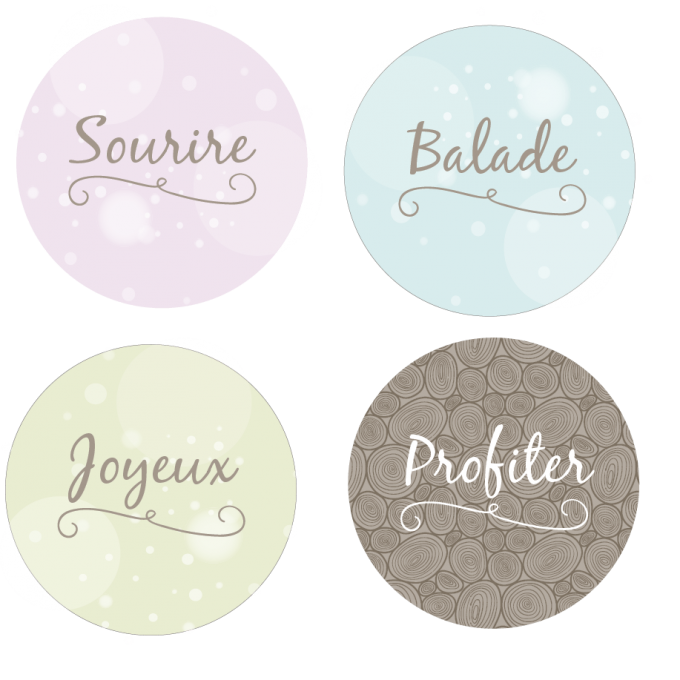 Badges Collection Printanière - Lot n°3