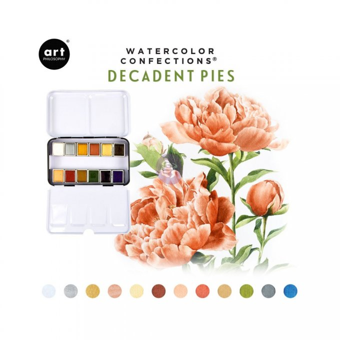 Palette Aquarelle Watercolor Confections Decadent Pies - Prima Art Philosophy