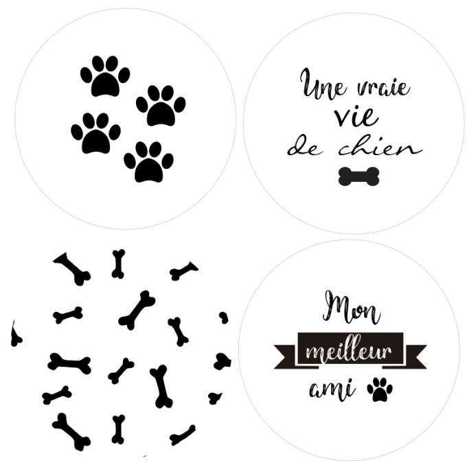 Badges Une vie de chienn