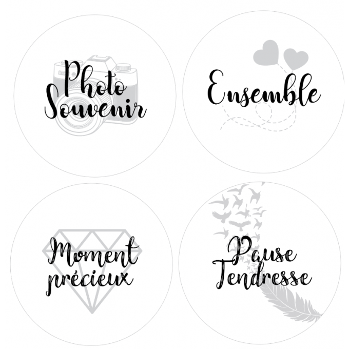 Badges Mots tendres