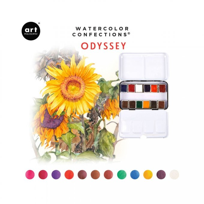Palette Aquarelle Watercolor Confections Odyssey - Prima Art Philosophy
