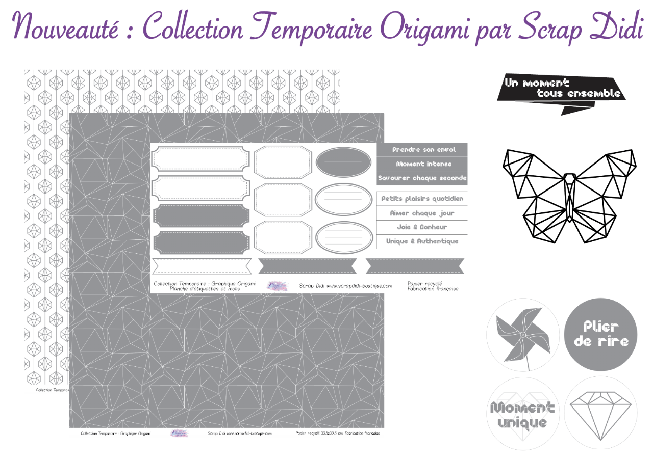 Collection temporaire ORIGAMI