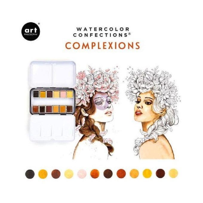 Palette Aquarelle Watercolor Confections Complexion - Prima Art Philosophy