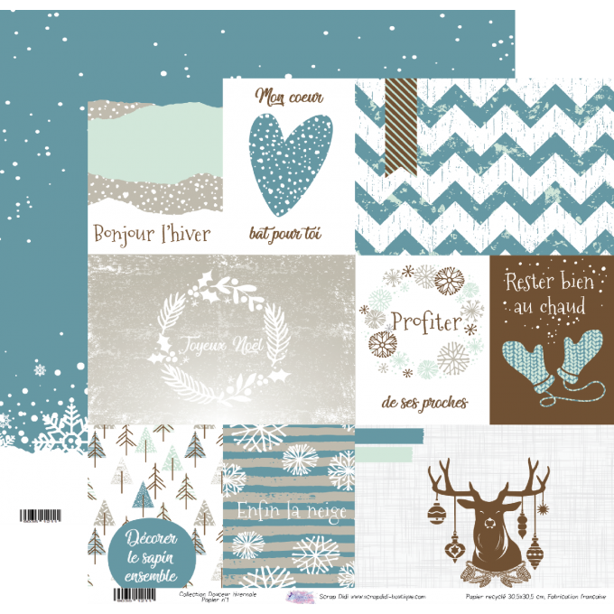 Collection Douceur Hivernale - Papier n°1
