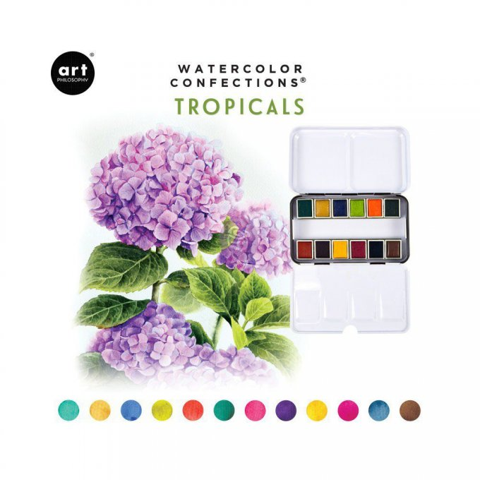 Palette Aquarelle Watercolor Confections Tropicals - Prima Art Philosophy