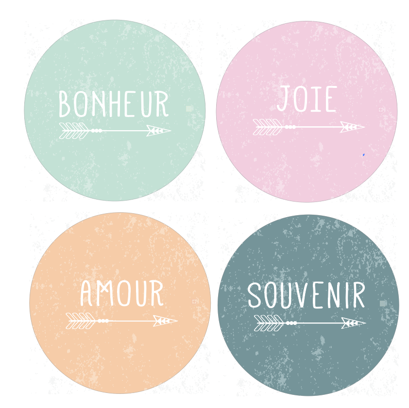 Badges Collection Bohémienne - Lot n°2
