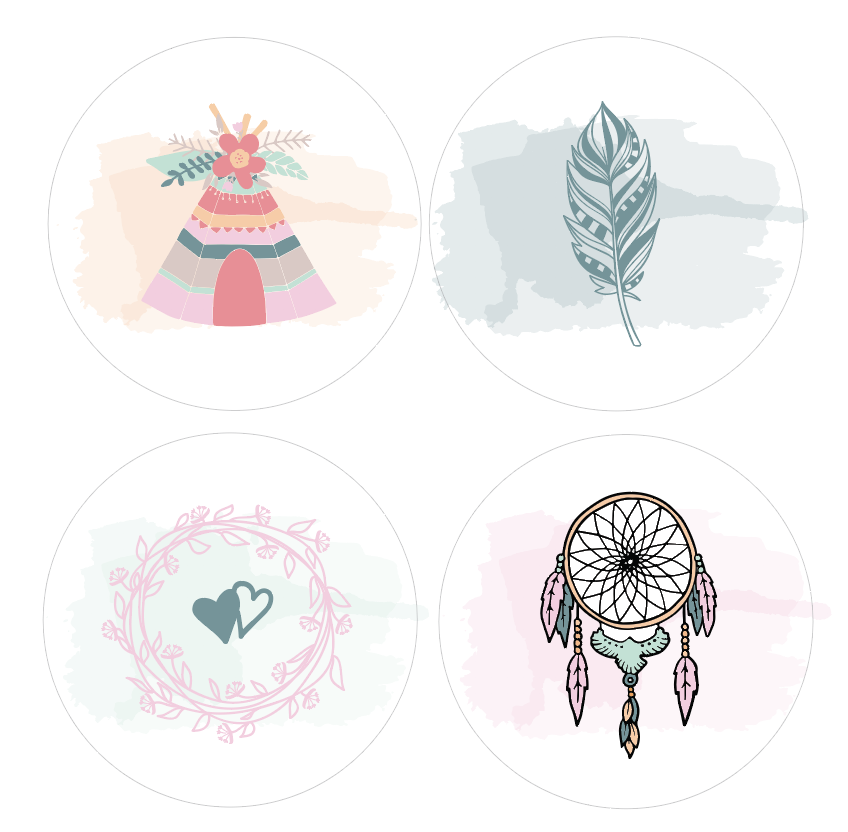 Badges Collection Bohémienne - Lot n°3
